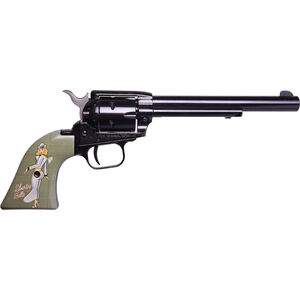 """Heritage Rough Rider Pin Up Girls .22 LR Single Action Rimfire Revolver 6.5"""" Barrel 6 Rounds TALO Exclusive Liberty Belle Synthetic Grips Blued"""