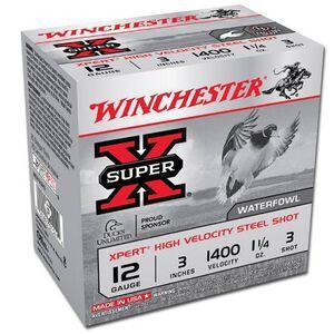 "Winchester Super-X 12 Ga 3"" #3 Steel 1.25oz 25 Rounds"