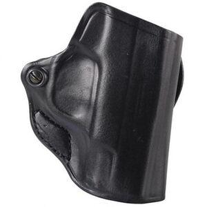 DeSantis Mini Scabbard Fits GLOCK 29/30 H&K P2000 Belt Slide Holster Right Hand Leather Black