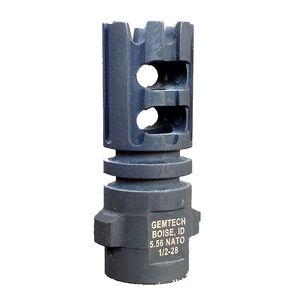 Gemtech Quickmount Muzzle Brake .223 Rem/5.56 NATO Threaded 1/2x28 Steel Matte Black