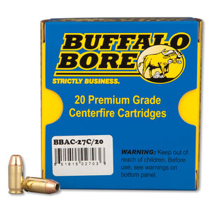 Buffalo Bore .380 ACP +P 20 Rounds,  JHP, 90 Grain