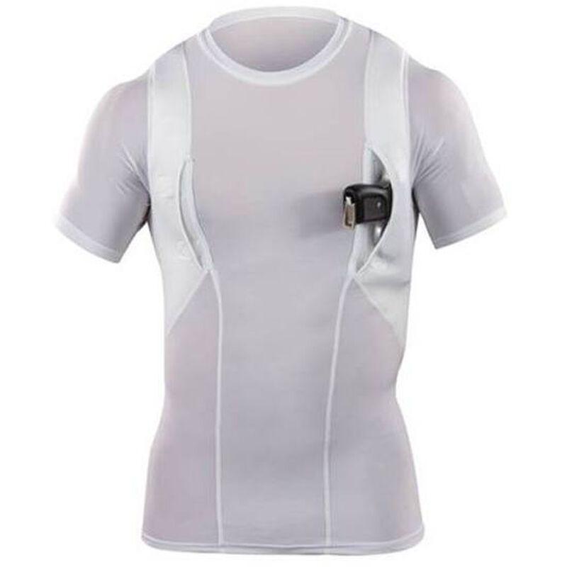 5.11 Tactical Men's Holster Crew Polyester/Spandex Shirt Medium White 40011