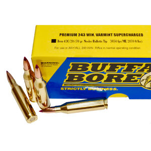 Buffalo Bore .243 Winchester Ammunition 20 Rounds NBT 70 Grains