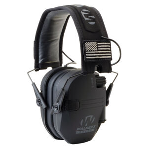 Walker's Game Ear Razor Patriot Series Electronic Adult Folding Earmuffs American Flag Black GWP-RSEM-PAT