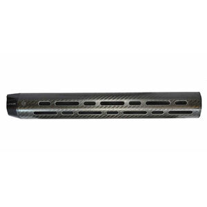 "Lancer LCH7 Extra Long Length DPMS LR-308 16.25"" Free Float Hand Guard Cooling Slots No Top Rail Carbon Fiber Black"