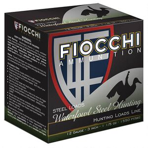 "Fiocchi 12 Gauge Ammunition 250 Rounds 3.50"" #2 Steel Shot 1.375 oz."