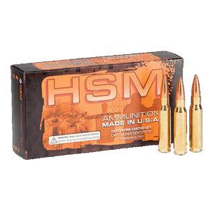 HSM Match .308 Win Ammunition 20 Rounds 168 Grain HPBT MatchKing 2625 fps