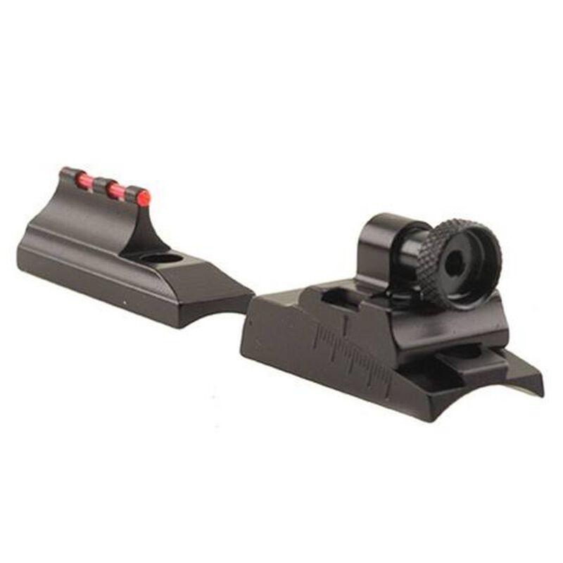 Williams Firesight Peep Set Ruger American 22 Magnum Fiber Optic Sight Fixed Front Peep Rear Steel/Aluminum Matte Black