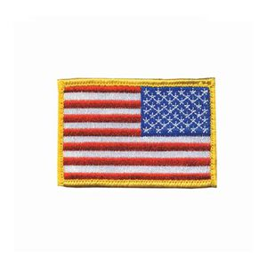 BLACKHAWK! USA Flag Patch Reversed Union Velcro Back Embroidered with Gold Border 90RWBV-R