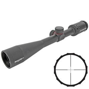 "Crimson Trace BrushLine Pro 4-12x40 Riflescope Plex Reticle 1"" Tube Second Focal Plane 1/4 MOA Adjustments Aluminum Matte Black"