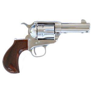 """Cimarron Thunderstorm Thunderer Uberti Single Action Revolver .45 Long Colt 3.5"""" Stainless Barrel 6 Rounds Pre War Frame Checkered Walnut Grips Stainless Finish CA4506TSM10G27"""