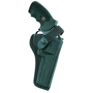 "Bianchi Model 7000 Sporting Belt Holster Right Hand Fits S&W K/L-Frame 4"" Revolver Ballistic Weave Black"