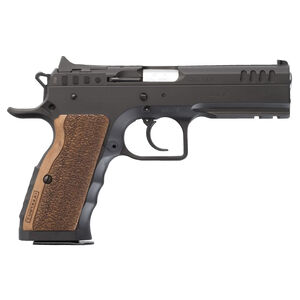 """IFG Tanfoglio Defiant Stock I 9mm Luger Semi Auto Pistol 4.5"""" Barrel 16 Rounds Small Frame Fixed/Interchangeable Sights Black Finish"""