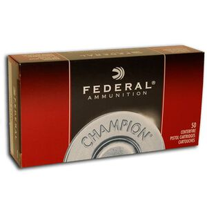 Ammo .45 Auto Federal Champion 230 Grain Full Metal Jacket Bullet 845 fps 50 Rounds WM5233