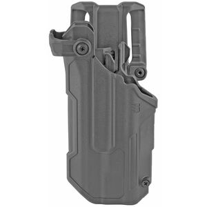 BLACKHAWK! T-Series L3D Level 3 Light Bearing Duty Holster Fits GLOCK 17/19/22/23 with TLR-1, 2 Right Hand Polymer Plain Finish Black
