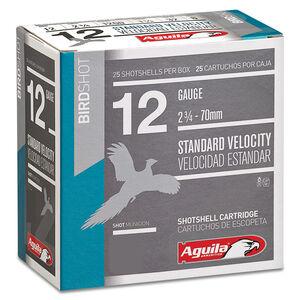 "Aguila Standard Velocity Field 12 Gauge Ammunition 25 Rounds 2-3/4"" Length 1-1/8 Ounce #8 Shot 1200fps"
