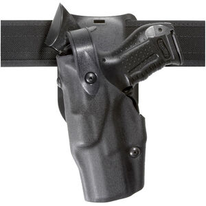 Safariland 6365 ALS/SLS Low Ride-Ride Duty Holster Left Hand Fits S&W M&P 45 with Light Hardshell STX Hi-Gloss Black