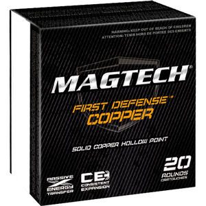 Magtech First Defense .45 ACP+P Ammunition 20 Rounds Solid Copper HP 165 Grains FD45A