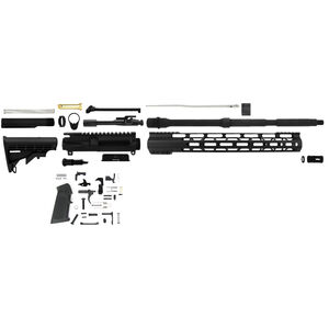 "TacFire AR-15 Complete Rifle Build Kit 5.56 NATO 16"" Barrel Lower Parts Kit Matte Black Finish"