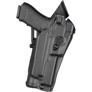 Safariland 6390RDS ALS Mid-Ride Duty Holster Fits GLOCK 17 MOS with Light and Red Dot Synthetic Leather Plain Black