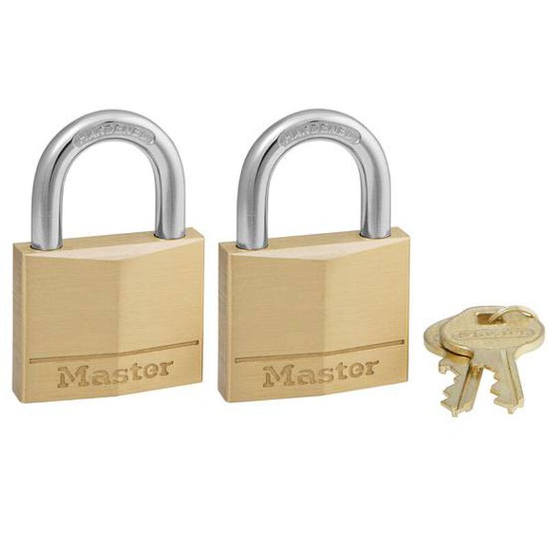 MasterLock 140 Brass Lock Two Pack Keyed Alike