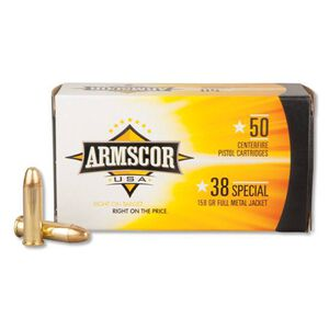 Armscor USA .38 Special Ammunition 50 Rounds FMJ 158 Grains F AC 38-17N