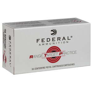 Federal Range Target Practice .38 Special Ammunition 50 Rounds 130 Grain Full Metal Jacket 890fps