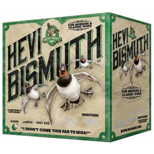 "Hevi-Shot Hevi Bismuth Waterfowl Ammunition 12 Gauge 25 Rounds 3"" #4 1-3/8 oz Hevi-Bismuth Shot 1450 fps"