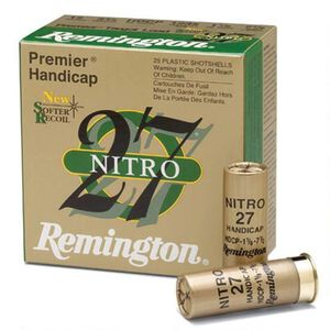 "Remington Nitro 27 12 Gauge Ammunition 250 Rounds 2.75"" #8 Lead 1.125 Ounce STS12NH8"