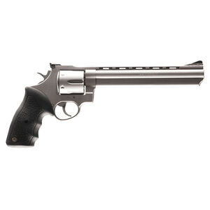 "Taurus 44 Double Action Revolver .44 Magnum 8.375"" Ported Barrel 6 Rounds Fixed Front Sight/Adjustable Rear Sight Rubber Grip Matte Stainless Steel Finish"