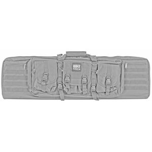"Bulldog Cases Double Tactical Rifle Case Polyester 43"" Seal Gray"