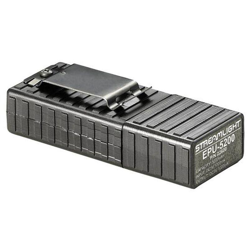 Streamlight EPU-5200 USB Rechargeable Power Supply with LED Flashlight Polymer Black 22600