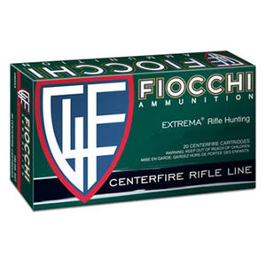 Fiocchi Extrema .25-06 Remington Ammunition 20 Rounds 117 Grain SST Polymer Tip Flat Base Projectile 2975fps