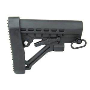 TacFire AR-15 Mil-Spec M4 Style Six Position Stock With Buttpad And QD Swivel Polymer Black MAR082-G