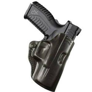 "DeSantis Mini Scabbard Belt Holster Springfield XDM 3.8"" Right Hand Leather Black 019BAI7Z0"