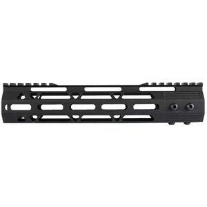 "JE Machine AR-15 10"" M-LOK Style Free Float Handguard with Rail Relief Cutouts Aluminum Black"