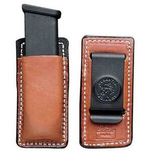 Desantis Secure Magazine Pouch Double Stack 9mm/.40 S&W Magazines Ambidextrous Leather Tan A47TJGGZ0