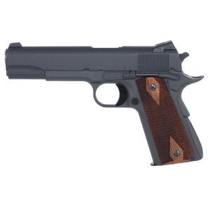 "Dan Wesson A2 Semi Auto Pistol .45 ACP 5"" Stainless Match Barrel 8 Rounds Combat Sights Walnut Grips Parkerized Finish"