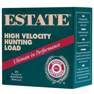 "Estate High Velocity 12 Ga 2.75"" #7.5 Lead 1.25oz 250 rds"