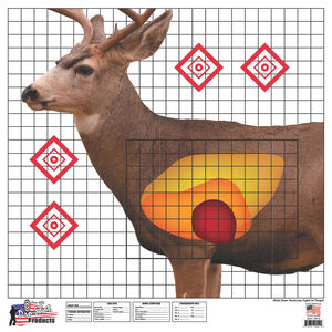 """Pro-Shot Life-Size Whitetail Deer Sight-in Targets 5 Quantity Pack 25"""" x 25"""" Heavy Paper WDSI-5PK"""