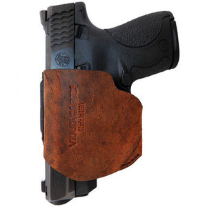 VersaCarry Pro 40 S&W Semi-Auto IWB/OWB Small Holster Right Hand Leather Brown Pro40 SM