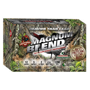 "Hevi-Shot Magnum Blend Mossy Oak Obsession NWTF Edition 12 Gauge Ammunition 5 Rounds 3"" Shell #5 #6 and #7 HEVI-13 Non-Toxic Lead Free Shot 2 oz 1200fps Turkey Load"