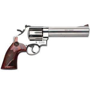 "S&W 629 Deluxe .44 Magnum Double Action Revolver 3"" Barrel 6 Rounds Adjustable Sights Wood Grips Satin Stainless Finish 150715"