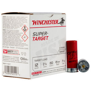 "Winchester Super-Target 12 Gauge Ammunition 25 Round Box 2-3/4"" #7.5 Lead 1oz 1150 fps"