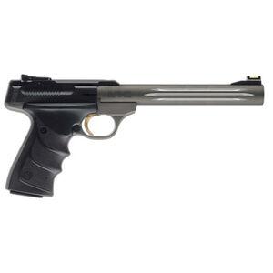 "Browning Buckmark Challenge URX Semi Auto Pistol .22 LR 7.25"" Fluted Barrel Adjustable Sights Ultragrip RX Grips Matte Grey 051517490"
