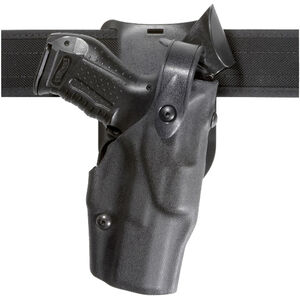 Safariland 6365 ALS/SLS Low Ride-Ride Duty Holster Fits S&W M&P 45 with Light Hardshell STX Hi-Gloss Black