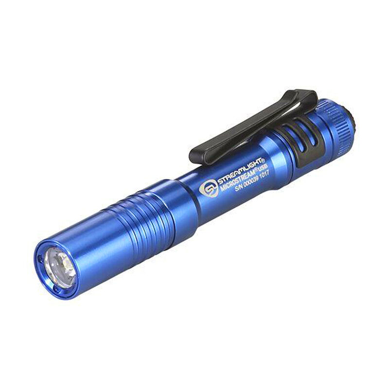 Streamlight Microstream USB, 250 Lumens, Rechargeable, Aluminum, Blue