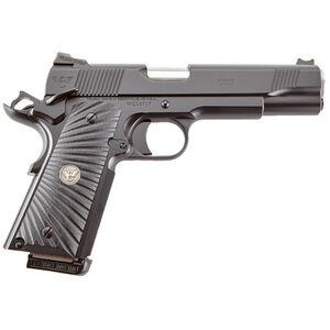 "Wilson Combat CQB 1911 Semi Automatic Handgun .45 ACP 5"" Barrel 8 Rounds Starburst G10 Grips Armor Tuff Black Finish"