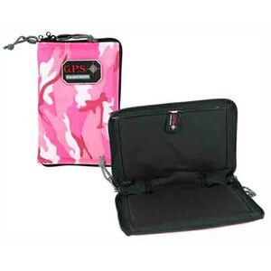 G Outdoors G.P.S. Pistol Sleeve Medium Lockable Zipper Pink Camo GPS-865PSPK