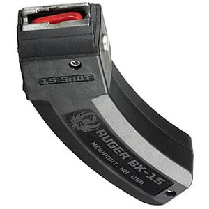 Ruger 10/22 BX-15 Series Magazine .22 LR 15 Round Polymer Construction Matte Black Finish